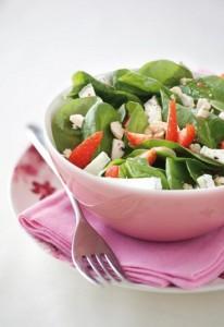 recette de la salade d'épinards et de goji